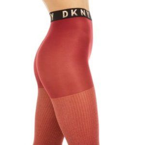 DKNY Womens Lurex® Ribbed Control-Top Tights